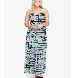 Torrid Tye- Dye Chiffon Maxi Dress